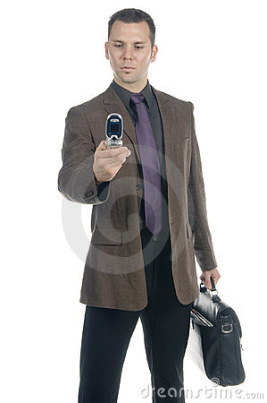 Free Businessman Calling Royalty Free Stock Image - 598476