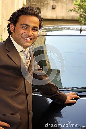 Businessman with Car
