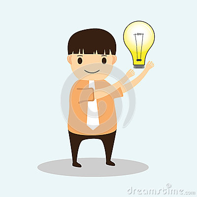Businessman cartoon with Creative idea