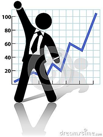 Businessman Celebrates Business Growth Success