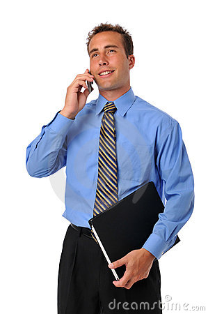 Businessman on the cellphone