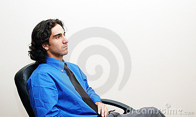 Businessman in a chair