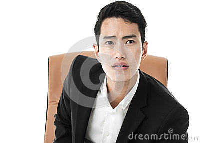 Businessman on a chair