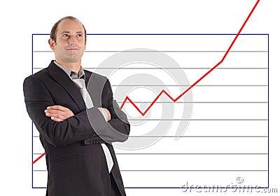 Businessman chart success