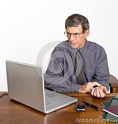 Businessman Checks His Pulse