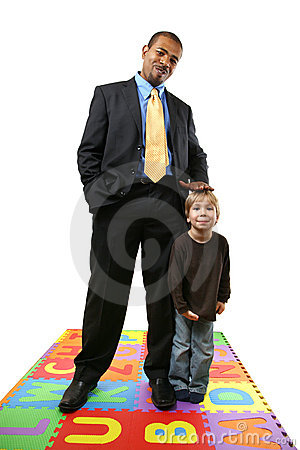 Businessman and child