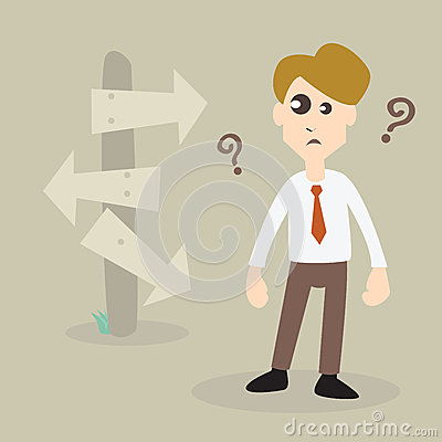 Free Businessman Choosing Right Way Stock Images - 30266684