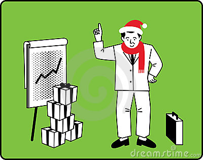 Businessman Christmas Presentation