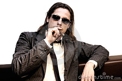Businessman with cigar