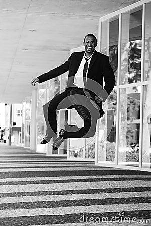 Businessman clicking his heels
