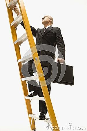 Free Businessman Climbing Ladder. Stock Images - 2046954