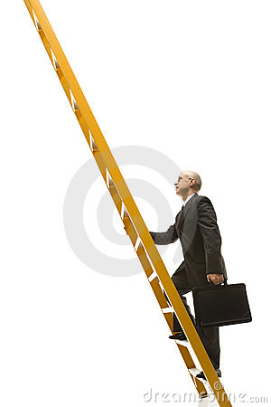 Free Businessman Climbing Ladder. Royalty Free Stock Photo - 2046955