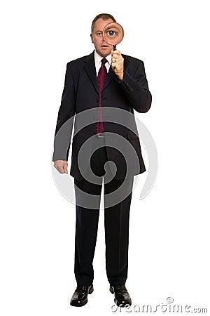 Businessman Close inspection.