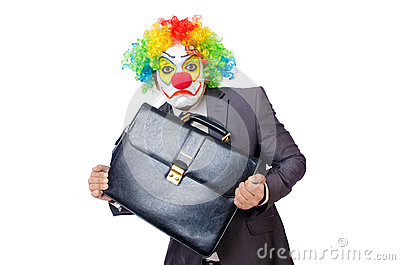 Businessman clown