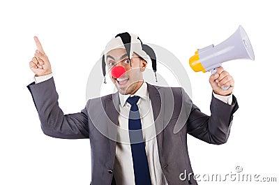 Businessman clown