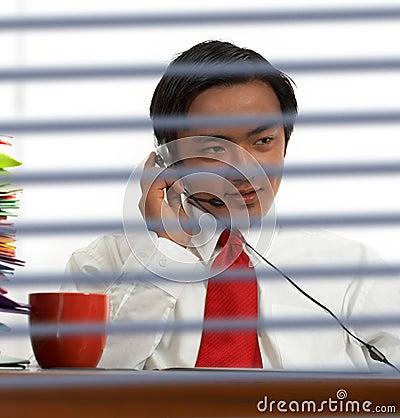 Businessman Communicating Online