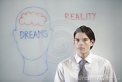 Businessman Confused Between Dream And Reality