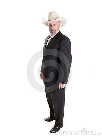 Businessman - cowboy hat