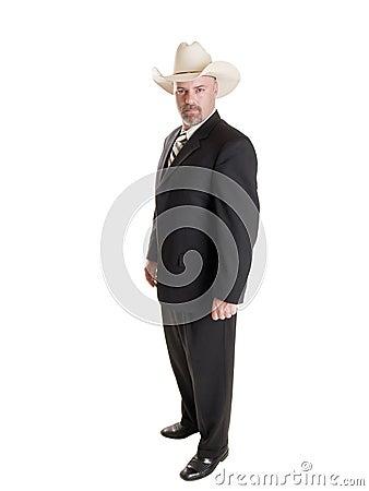 Businessman - cowboy hat