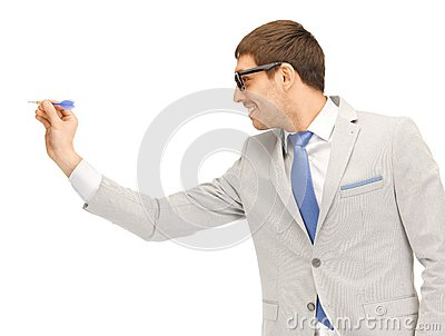 Businessman with dart
