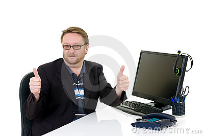 Businessman on desk