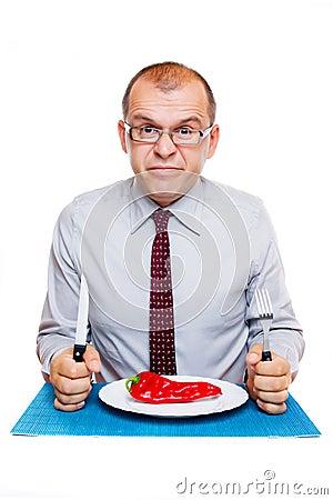 Businessman on a diet