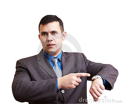 Businessman Dissatisfied With Delay Stock Photography - Image: 7936252