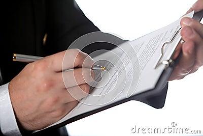 Businessman & document