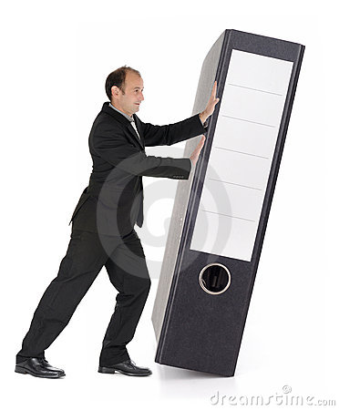 Businessman with document file