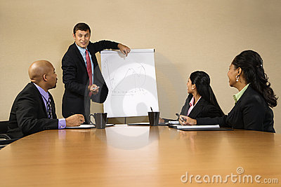 Businessman doing presentation.