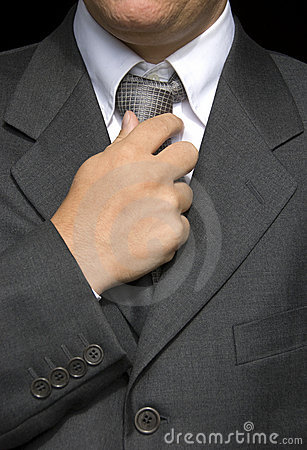 Businessman  doing a tie