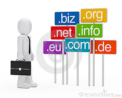 Businessman domain signboards