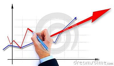 Businessman drawing an organization
