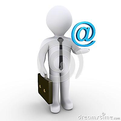 Businessman with e-mail symbol