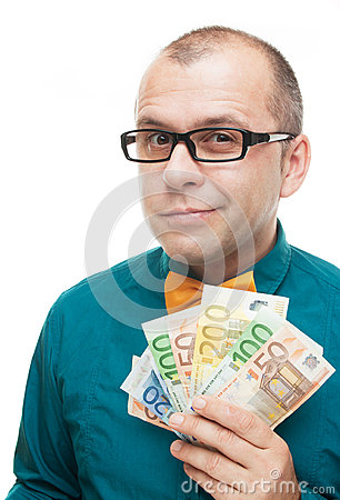 Businessman with euro money