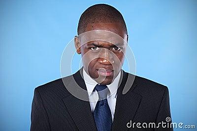 Businessman evil look
