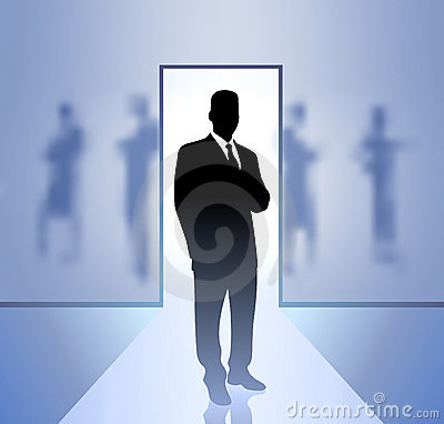 Businessman executive in focus