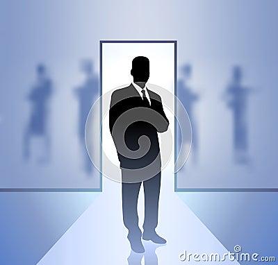 Businessman executive in focus