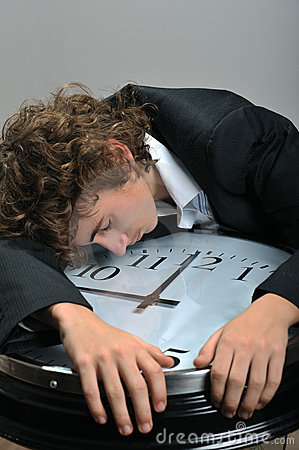 Businessman exhausted