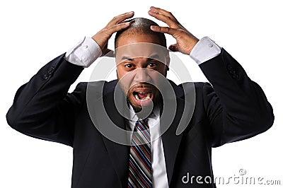 Businessman Expressing Frustration