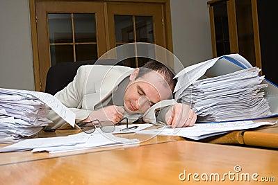 Businessman felt asleep