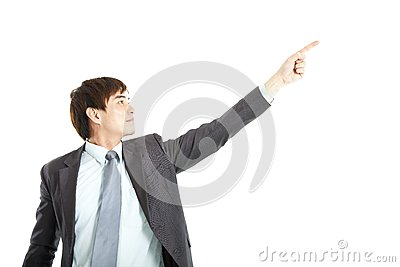 Businessman finger pointing