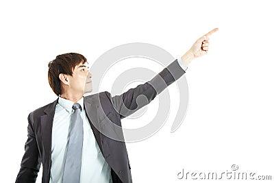 Businessman finger pointing