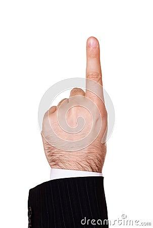 Free Businessman Finger Up Stock Image - 12493891