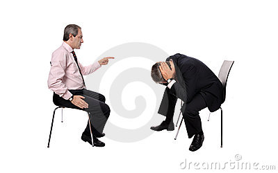 Businessman firing an employee