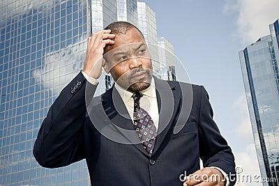 businessman forgetting fear