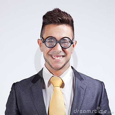 Businessman with funny glasses
