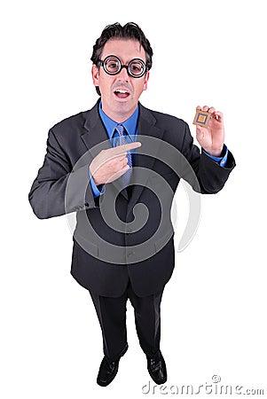 Businessman geek
