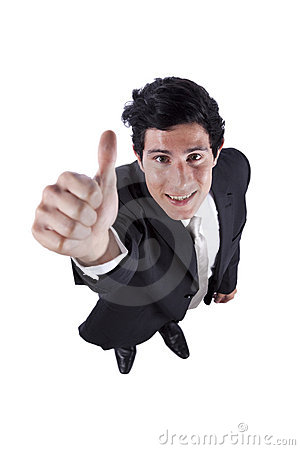 Businessman gesturing OK