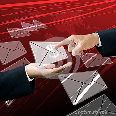 Businessman get the earning mail